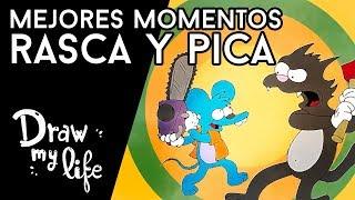 Los MEJORES EPISODIOS de RASCA Y PICA - Draw My Life