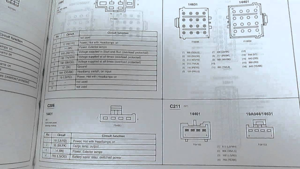 2002 ford ranger electrical wiring diagrams manual factory oem book from  carboagez com - youtube