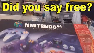 Live Flea Market/Yard Sales Video Game Hunting! Ep. 34 - Did You Say Free? - Pickups!