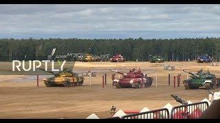 LIVE: Tank biathlon second division final