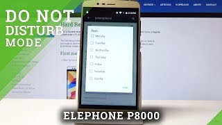 How to Activate Do Not Disturb in ELEPHONE P8000 - DND Mode