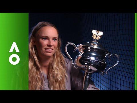 Caroline Wozniacki post-match interview (F)   Australian Open 2018