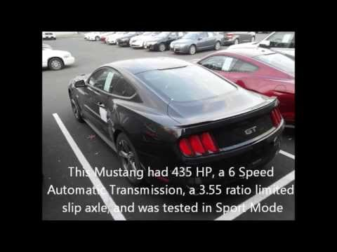 2015 Ford Mustang Gt 0 To 60 0 60 Mph Youtube