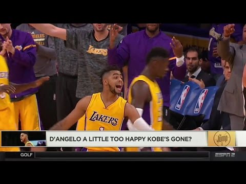 D'Angelo Russell A Little Too Happy Kobe Bryant's Gone?