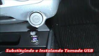 Substituindo e Instalando Tomada USB com Voltímetro