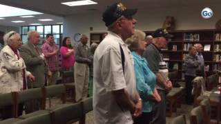 VIDEO CLIP: Veterans, and two Holocaust survivors, join in singing America