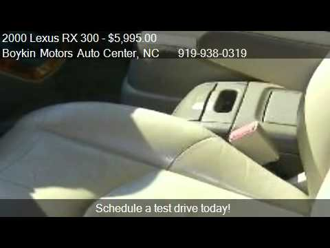 2000 lexus rx 300 for sale in smithfield nc 27577 at the for Boykin motors smithfield nc