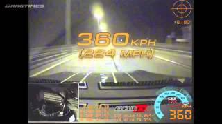 NISSAN GT-R РАЗОГНАЛСЯ 360 ПО МКАДу