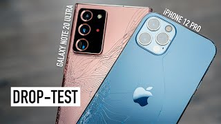 iPhone 12 Pro и Galaxy Note 20 Ultra - Drop Test! Ceramic Shield или Gorilla Glass 7?