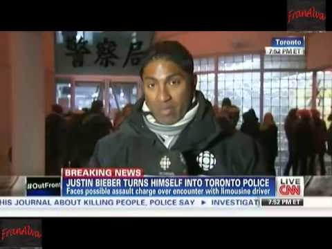 Justin Bieber Charged With Assault, Justin Bieber Turns Himself In For Assault On Limo Driver, TONIG