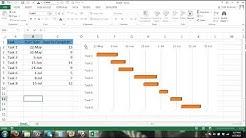 Gantt Chart Excel Tutorial - How to make a Basic Gantt Chart in Microsoft Excel 2013