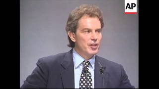 UK: BLACKPOOL: LABOUR PARTY ANNUAL CONFERENCE: TONY BLAIR SPEECH