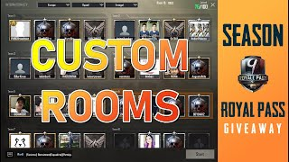 🔴 Pubg Mobile Live | Custom Rooms | Royal Pass Giveaway season 9