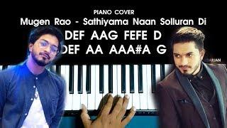 Mugen Rao - Sathiyama Naan Solluran Di Song Piano Cover WITH FULL NOTES   AJ Shangarjan