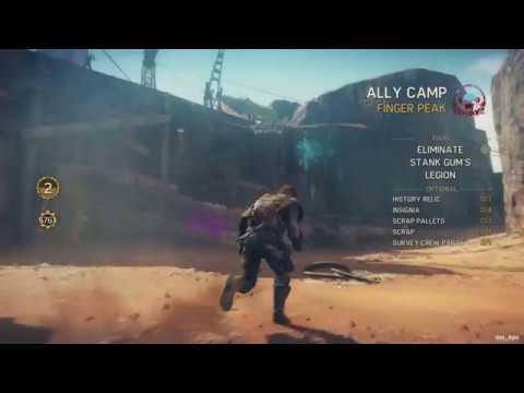 Mad Max - Finger Peak Camp - Collectibles Locations (Scrap, Insignia, History Relic & Survey Crew)