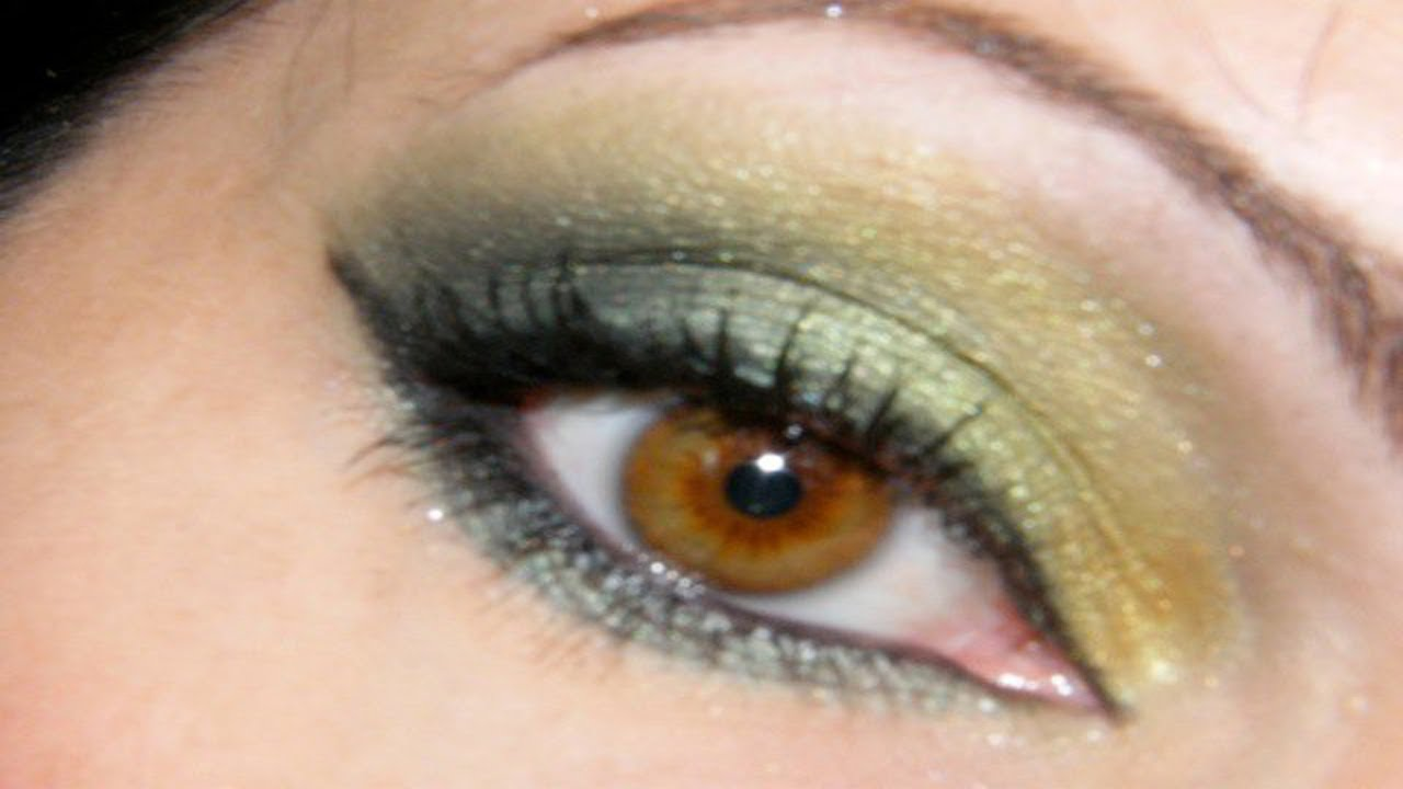 Maquillage des yeux simple et vert youtube - Maquillage yeux verts ...