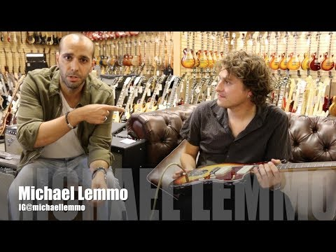 Michael Lemmo playing a 1964 Fender Jazzmaster at Norman's Rare Guitars