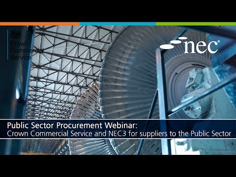 Public Sector Procurement: Crown Commercial Service and NEC3 for suppliers to the Public Sector