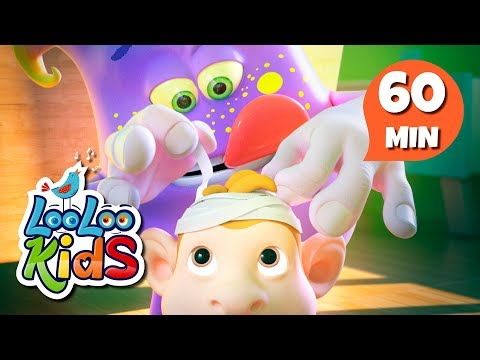 Five Little Monkeys - The Most Fun Songs for Children | LooLoo Kids