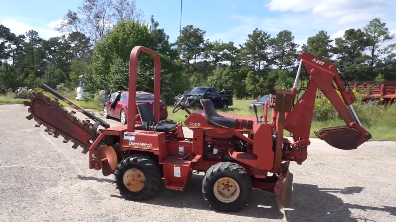 1996 Ditch Witch 3500 Trencher w 6 Way Blade & Backhoe Attachment SN 3N0601