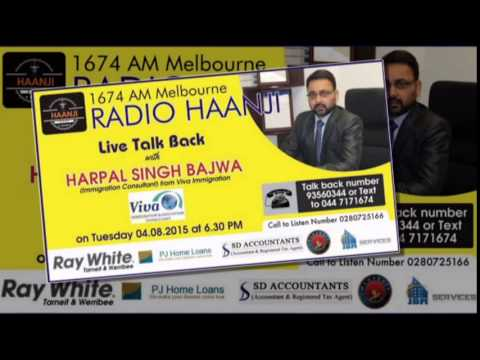 Live Talk Back Interview session with Harpal Singh Bajwa - Radio Haanji 1674AM