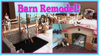 Schleich Horse Barn And Stable Makeover Remodel 2019 FIRST DAY TV