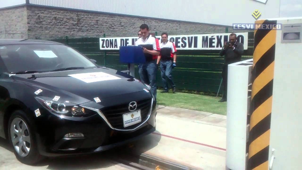 Low Speed Crash Test 2014 Mazda Sedan