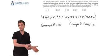 Vidéo TAGE MAGE gratuit 6 - question calcul