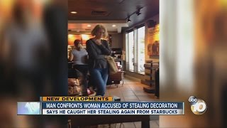 Man confronts woman who was captured on video stealing his Halloween decorations