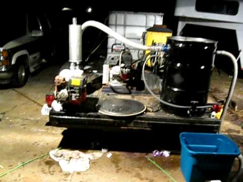 Wash water vacuum recover system