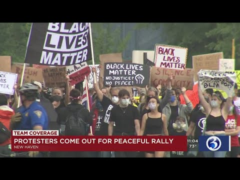 VIDEO: More Than 1,000 Protesters Rally Outside New Haven Police Dept.