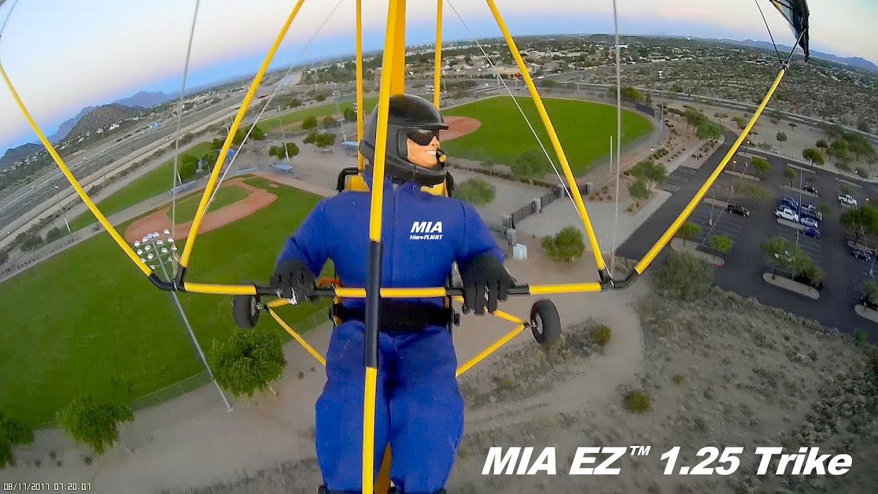 RC MICROLIGHT MIA EZ 1 25 Trike FIRST FLIGHT WITH NEW WING MIX
