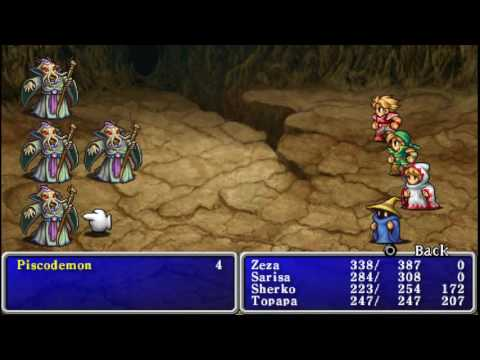 Let's Play Final Fantasy I - 12 - Earth Crystal Cave Place