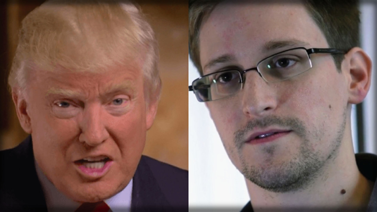 Image result for ed snowden and trump