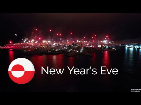 New Year's Eve 2020 - Nuuk Greenland 4K Drone Video