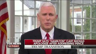 Pence on Hamilton Controversy: I Wasn't 'Offended' by What Was Said