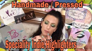 Speciality Handmade / Hand pressed Fun Indie Highlighters * Looxi Beauty * Devinah * Beauty Escape