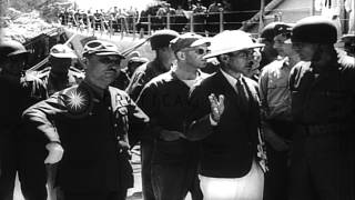 US military takes control of Japanese Military bases after the surrender of Japan...HD Stock Footage
