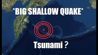 *Strong Shallow Quake* | 2 miles deep! | Possible Tsunami