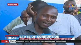 Mombasa residents unhappy with the progress in the fight against corruption