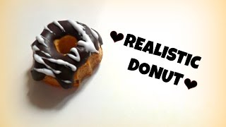 Realistic Donut in polymerclay- Ciambella realistica in Fimo