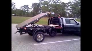 dodge 3500 flatbed dump truck 2nd video