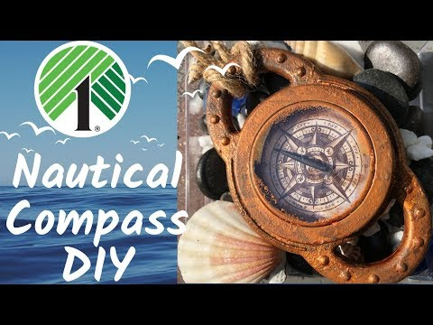 Dollar Tree Nautical Decor   Compass DIY