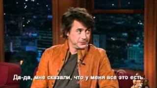 Robert Downey Jr - Late Late Show (sub lang: rus)