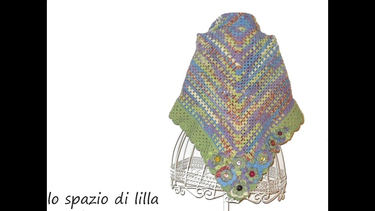 Lillas Tutorials Scialle Alluncinetto Facilissimo Easy Crochet