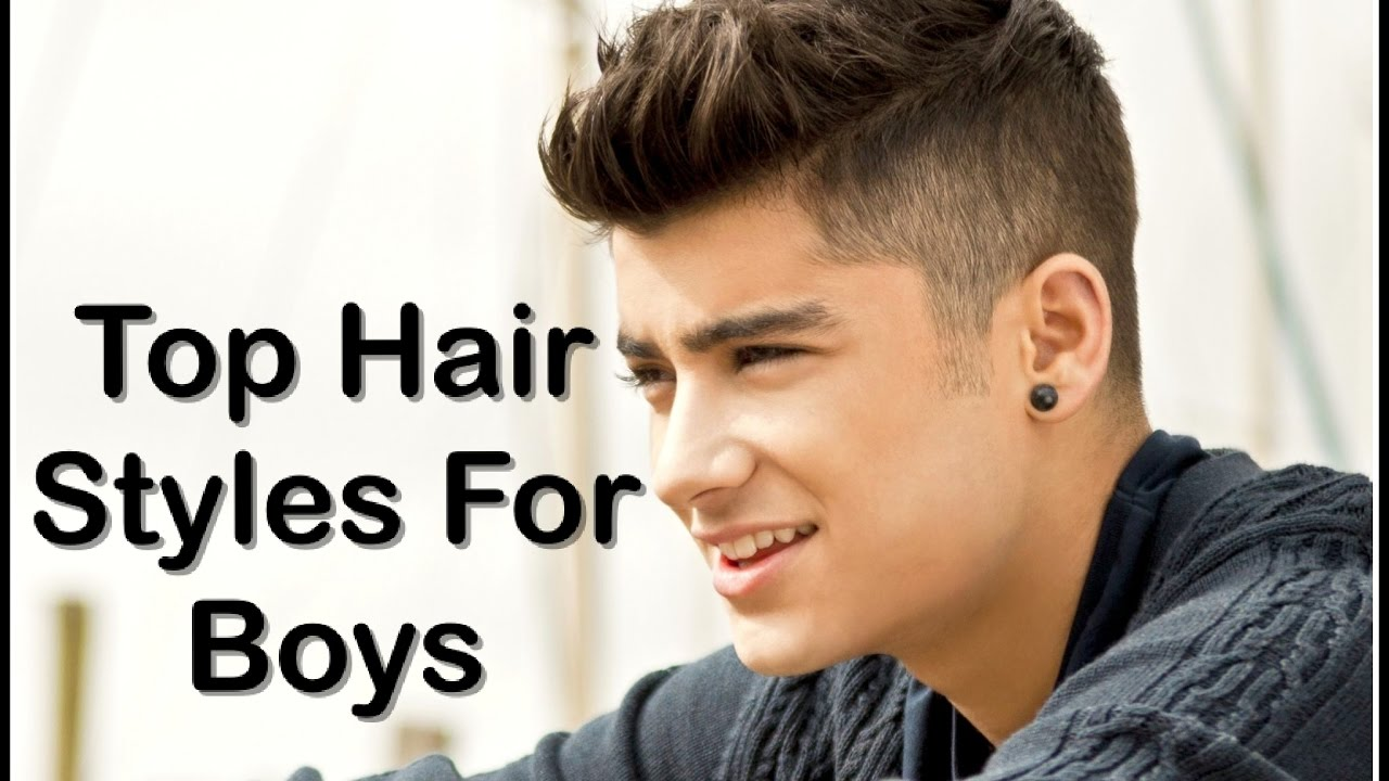 Top 10 Hair Style For Boys And How To Make Hair Style Quickly At Home Youtube
