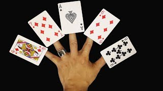 Amazing 5 Cards - Best magic card trick with tutorial