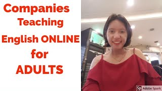 10 Companies For Teaching Adults English Online