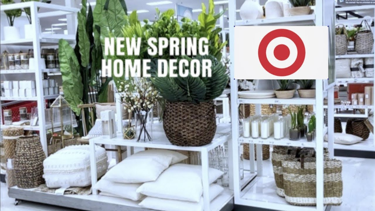 New 2019 Target Spring Home Decor Shop With Me Youtube