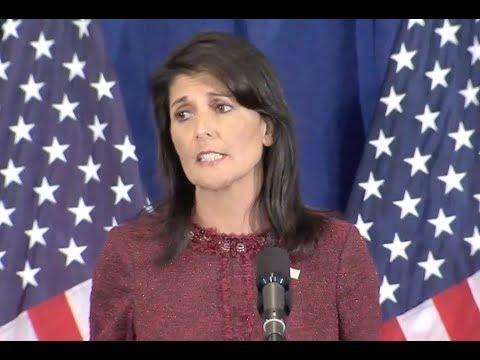 UN Ambassador Nikki Haley Press Conference- Full Event